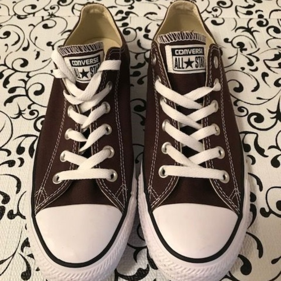 Converse Shoes - New Rare Dark Brown Chuck Taylor All Star Low Top 215342748